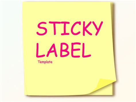 post it label templates sticky note template