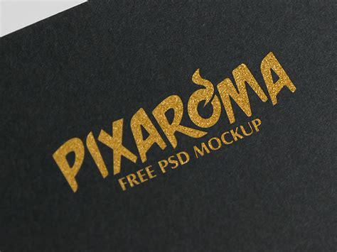 logo design mockup free download free golden logo mockup psd by pixaroma dribbble