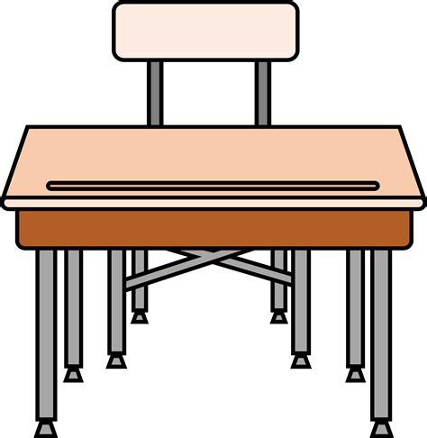 Clipart Empty Student S Desk Student Desk Clip