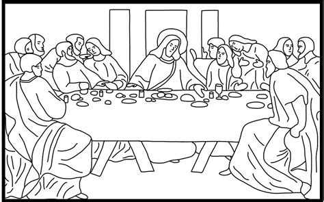 The Last Supper Coloring Page free coloring pages of lent last supper