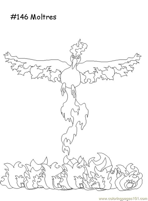 pokemon coloring pages moltres moltres coloring page free pokemon coloring pages