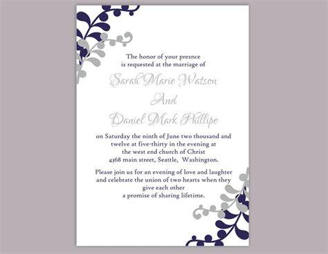 free printable wedding invitations navy wedding invitation template download printable invitations