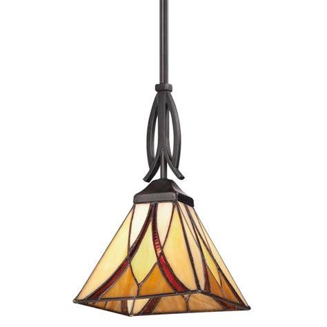 stained glass kitchen lighting quoizel tfas1507va valiant bronze asheville 1 light mini