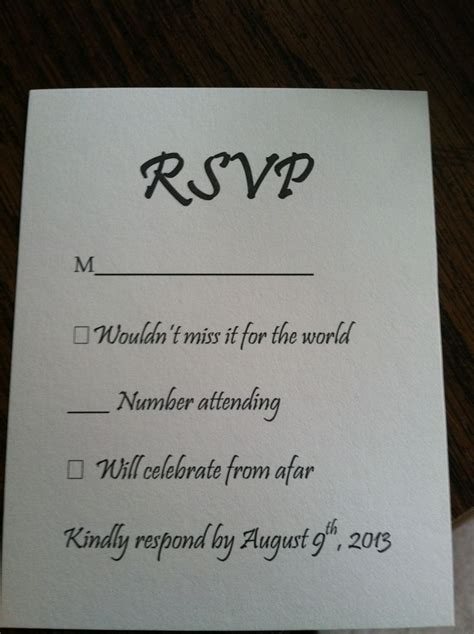 this wedding rsvp card is going viral thanks to a hilarious