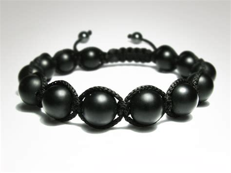 black bead bracelet mens s matte black onyx mens beaded bracelet