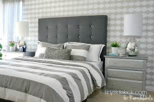 Bed Frames With Cushioned Headboard Remodelaholic Diy Tufted Upholstered Headboard Tutorial
