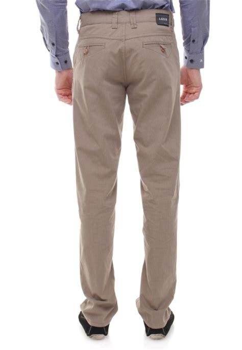 Kemeja Pria Casual Reguler Fit Bahan Katun Berkualitas 84 regular fit celana katun tekstur bergaris coklat