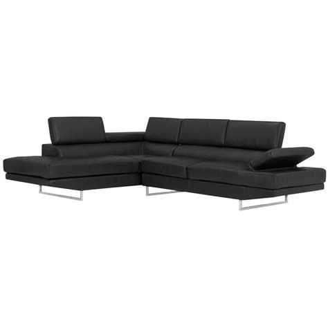 microfiber chaise sectional city furniture tatiana black microfiber left chaise sectional