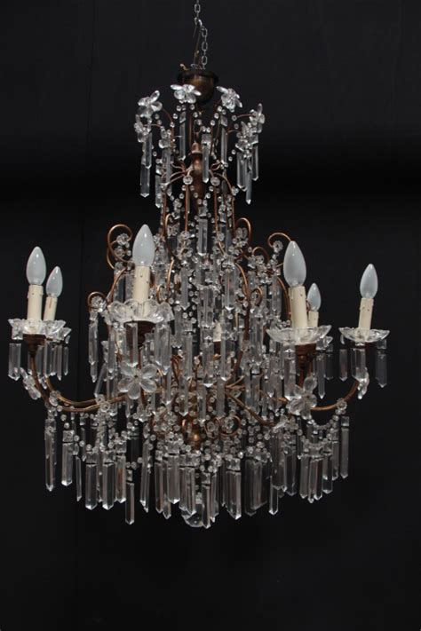 Decorative Chandelier In Crystal Italy 1940 Chandeliers Architectural Chandeliers