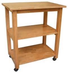 Solid Wood Kitchen Island Cart by Solid Wood Microwave Cart W Casters Traditional