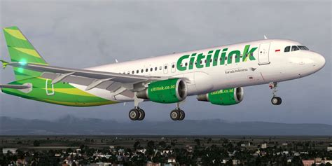 citilink number citilink airbus a320 200 pk glv for fsx