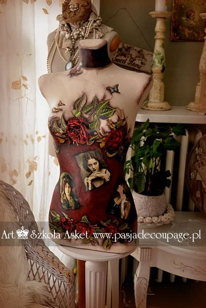 Decoupage Mannequin - how to decoupage a mannequin part 2