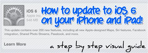 how to upgrade to ios 6 how to update the ios software on your iphone or ipad