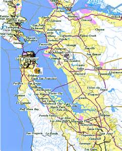 map of california bay area deboomfotografie