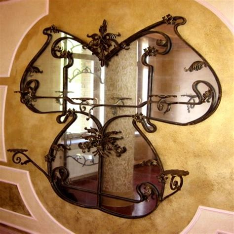 wrought iron wall decor adds elegance to your home