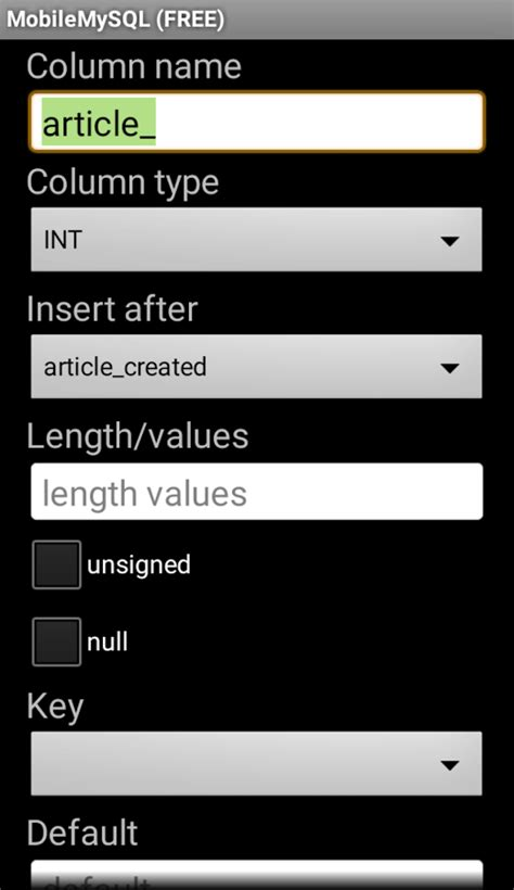 free manager for mobile mobile mysql manager free android apps on play