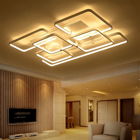 Aliexpress Com Buy Square Surface Mounted Modern Led Living Room Ceiling Light Fixture