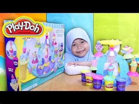 game membuat ice cream mainan anak play doh swirl scoop ice cream kids toy