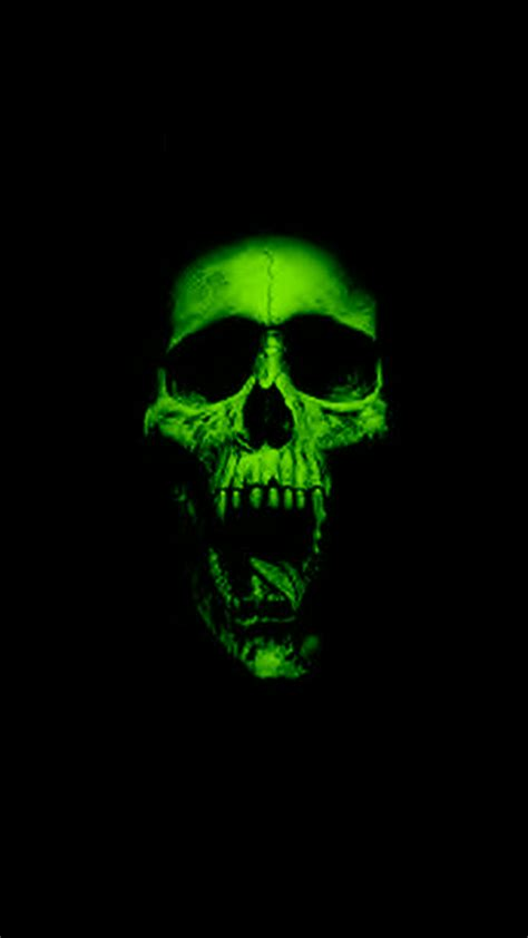 wallpaper hd iphone skull green skull hd wallpaper for your mobile phone