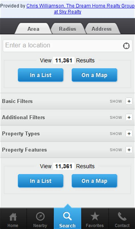 home search app for android iphone blackberry