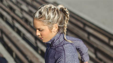 Work Out Hairstyles by Easy Simple Workout Hairstyles To Glam Up In