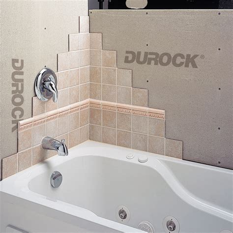 how to install cement board around bathtub quot durock quot cement board rona