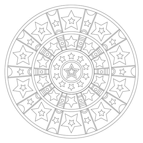 stars and stripes coloring page stars stripes mandala