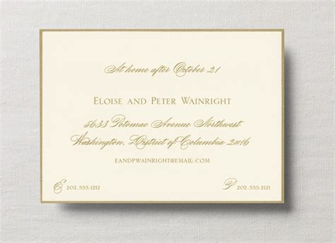 Free Accommodation Card Template by Free Guide To Wedding Invitation Enclosure Cards