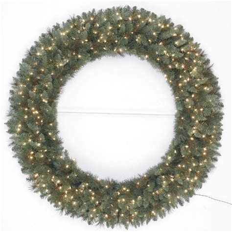 60 inch lighted outdoor christmas wreath shop living 60 in pre lit indoor outdoor in green scottsdale pine artificial