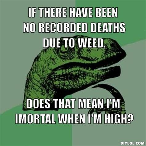 Is There Any Recorded Deaths From Cannabis Im So High Quotes Quotesgram