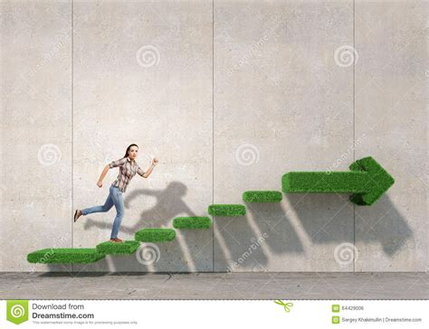 Up The Staircase up the staircase stock photo image 64429006