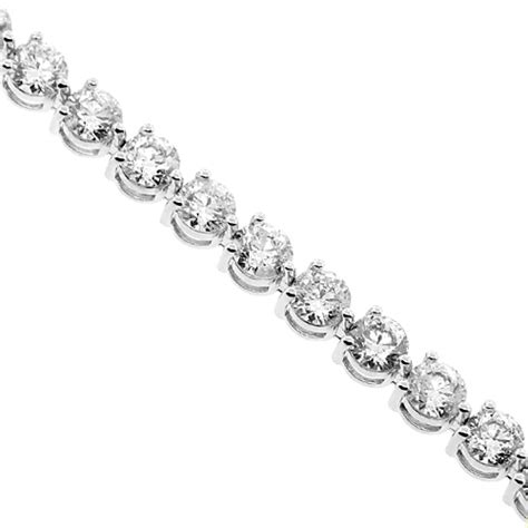 diamond tennis bracelet in 18k white gold 2 blue nile womens round si1 g diamond tennis bracelet 18k white gold