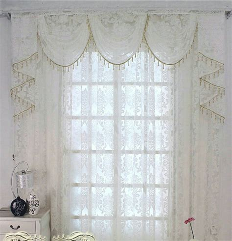 White Valance Curtains Luxury European White Tulle Voile Sheer Window Curtains With Valance For The Bedroom Living Room