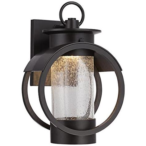 arbor 12 quot high burnished bronze led outdoor wall sconce