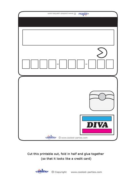 Blank Santander Credit Card Template by Blank Printable Credit Card Invitations Coolest