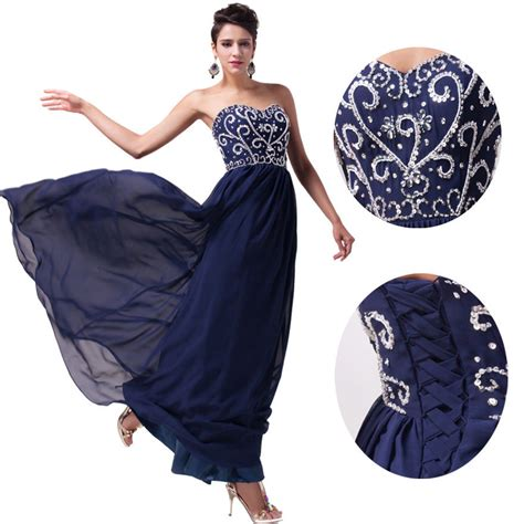 Long Chiffon Formal Evening Ball Gown Prom Dress Bridesmaid Party | women long chiffon formal evening party ball gown prom