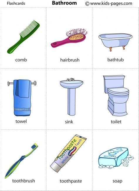 bathroom things names 25 best ideas about flashcard on pinterest flash card