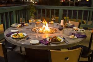 round patio dining table with fire pit gallery