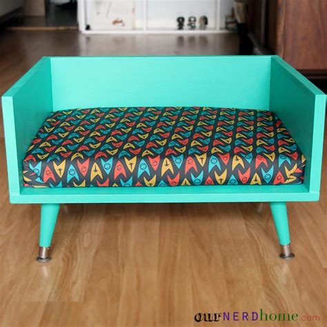 mid century modern dog bed diy mid century style pet bed with a touch of star trek