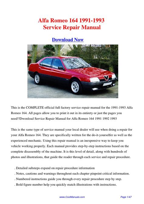 service manual 1992 alfa romeo 164 workshop manuals free pdf download alfa romeo 164 car