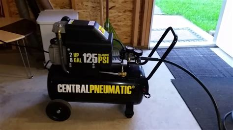 2 hp 8 gal air compressor from harbor freight
