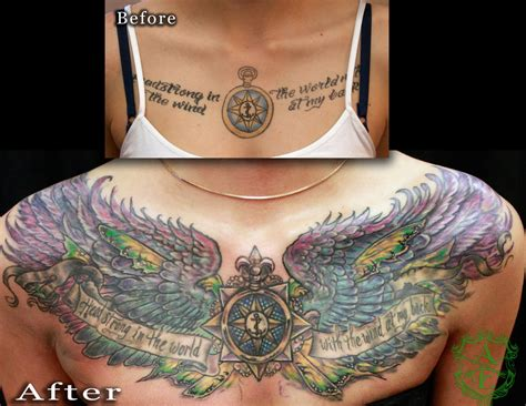 cover up tattoos on chest compass chest cover up by seanspoison on