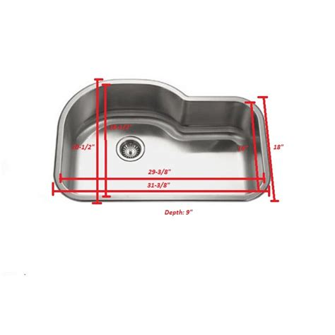 undermount offset single bowl sink 32 inch stainless steel undermount offset single bowl