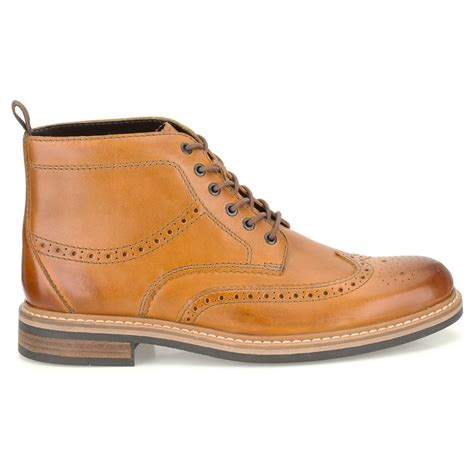 cognac boots clarks mens darby rise cognac 6 eyelet brogue boot at