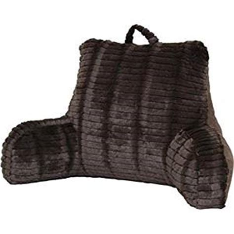 Reading Pillow With Arms by Cut Faux Fur Chocolate Bedrest Reading Posture