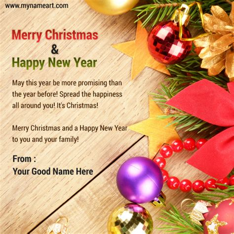write name on happy merry 2015 pictures wishes greeting card