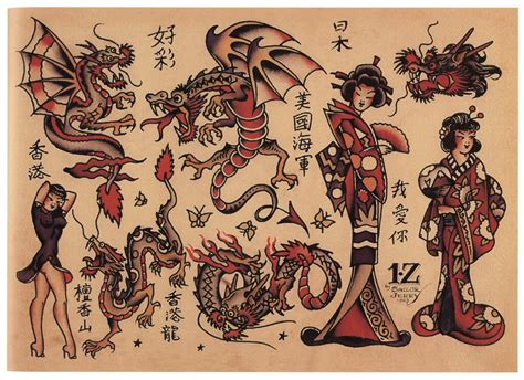 sailor jerry tattoo flash the gallery for gt traditional flash sailor jerry