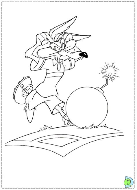 free baby wile e coyote coloring pages