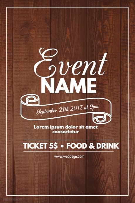 Wood Event Flyer Template Postermywall Free Pong Flyer Template