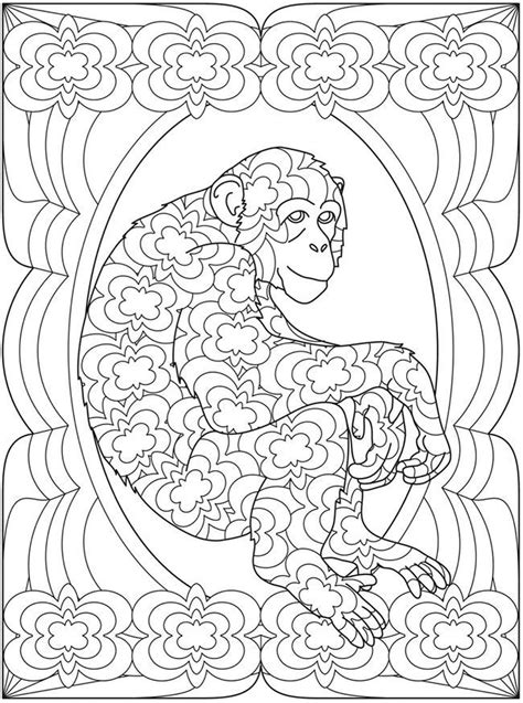 monkey coloring pages for adults get this monkey coloring pages for adults 93102